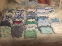 Bundle of boys clothes 0-1month over 100 items