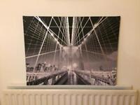 Canvas print bridge picture £5