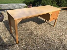 LARCE DESK WITH DRAWS