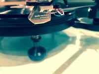 michell micro turntable, little brother of michell gyro - rega rb300 arm ,cartridge audio technica