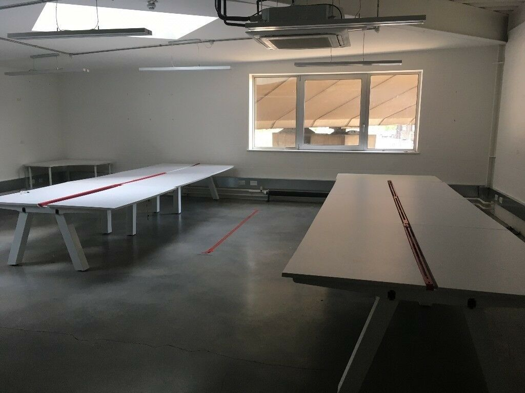 Large long white office desks for sale perfect for startups