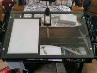 Glass Drawing table quite large in size comes with A3 Tracing light