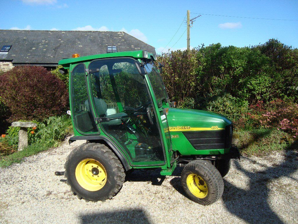 John Deere 4110 HST Compact Tractor with cab