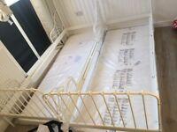 IKEA single bed metal new