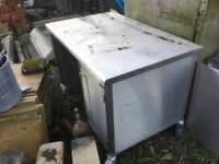 Custom Made Stainless Steel Trolley Electric Double Socket 3 Drawers both Sides