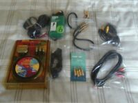 audio leads, phono ,scart, job lot