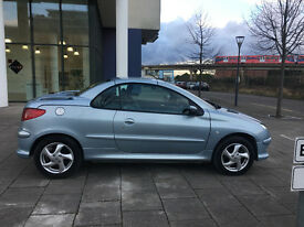 2005 PEUGEOT 206 ALLURE CONVERTIBLE 1.6 COUPE, 2 OWNER, 12 MOT, 66K F/S/H, 6 STAMPS, HPI CLEAR 100%