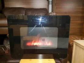 Wall mounted fire with remote and instructions