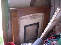 Adams fire surround back panel and hearth