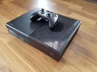 Xbox one 1tb black plus cod, media remote, original box and carry case