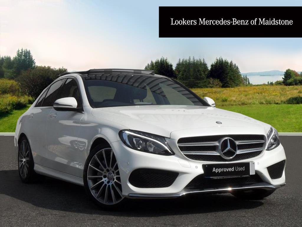 mercedes benz c class c250 d amg line premium plus white 2016 09 28 in maidstone kent gumtree. Black Bedroom Furniture Sets. Home Design Ideas