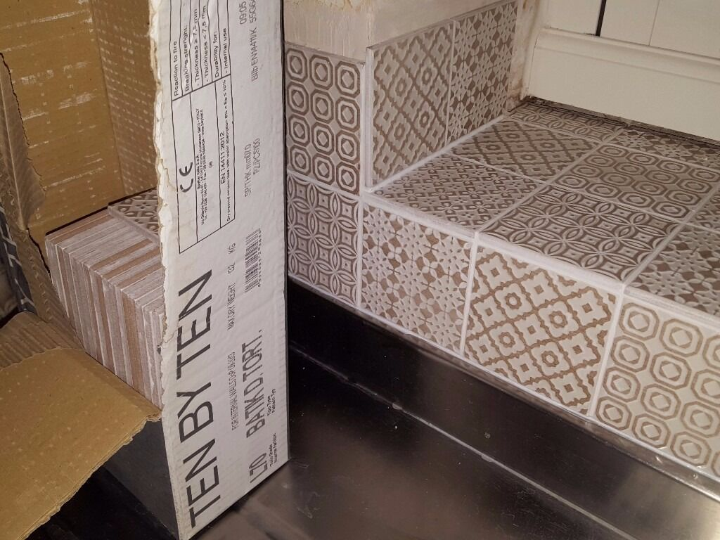 Batik patchwork tiles from topps tiles in beige part box in batik patchwork tiles from topps tiles in beige part box dailygadgetfo Images