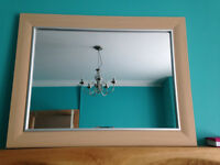 Mirror Beech Effect with Silver Trim