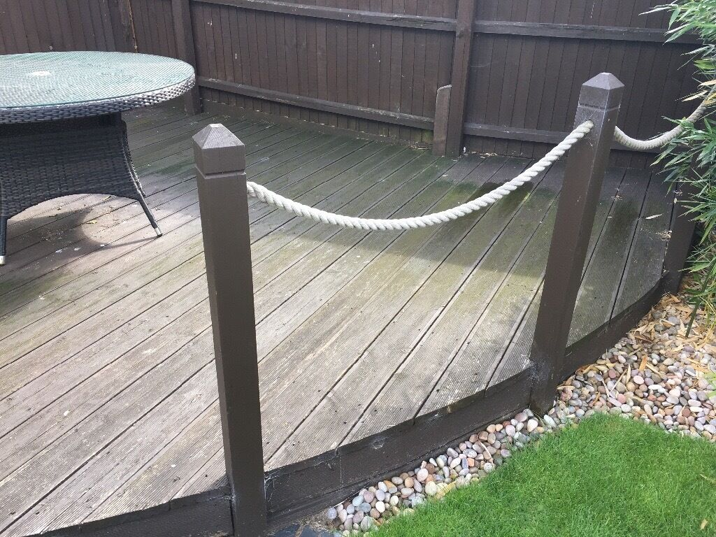 Free To Collect Wooden Decking Rough Quarter Circle