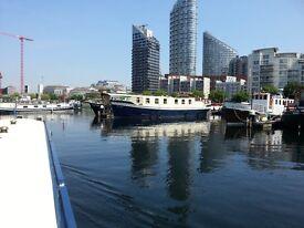 Houseboat, Residential, transferable moorings, London Docklands. 61 sq mtr floor space on 2 decks