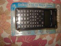 NEW CANON F-718SGA: 4-Line Dot Matrix Dual Way Calculator