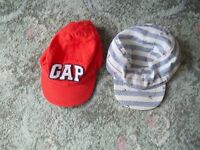 2 BABY BOY CAPS/HATS (GAP/EARLY DAYS, 12-14 MONTHS)