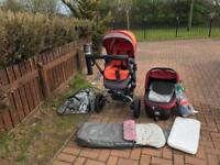Jane tridor buggy and carrycot