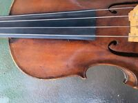 viola 4/4 bow and case
