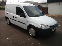 vauxhall combo crewvan 2000 cdti 1.3 turbo diesel 2008 58 plate twin side loading doors