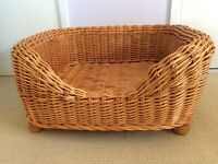 CANE/WICKER DOG BED