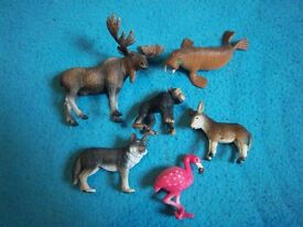 Bundle of Toy Animals - Moose, Flamingo etc. IP1