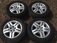 """Vw golf mk4 15"""" alloy wheels - good tyres"""