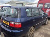Kia carens diesel spare parts breaking bumper bonnet engine door wing Ecu set