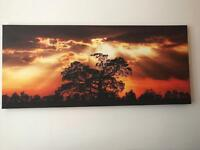Large Canvas dawn in the country picture