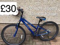 Selection of Ladies mountain bike - from £25 - £50 Ladies or girls hardtail mountain bike female