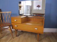 Vintage Retro Mid Century Teak Dressing Table Danish style 1960s