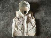 Blue inc men's vest jacket bodywarm padded hoody full zipper size M used £10