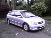 Honda civic 1.6 se excuctive 2004 ,101k only .leather interior.