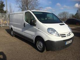 2013-63 Nissan primastar same as vivaro trafic van. Hpi clear 2 keys
