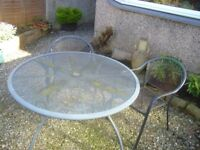 Garden setting - table and 2 chairs