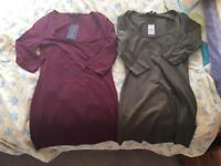 2 newlook tunic tops size 8 new