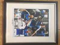 Signed framed Rangers picture from season 2015/16