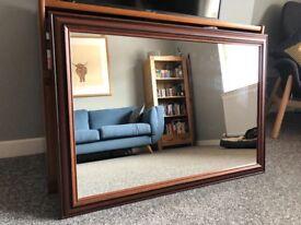 Mahogany effect mirror 70x102cm