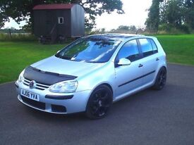 Volkswagen Golf TDI S 2006 Silver with Black Glitter Metal flake roof