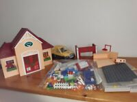 Playmobile Veterinary clinic with car