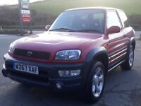 TOYOTA RAV4 2.0 16V GIANT 4WD, SPECIAL WIDE EDITION, 76K, FSH, ALLOYS, A/C, E/SUNROOF, BARGAIN 4X4