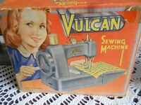 vintage vulcan children's sewing machine very early 1950