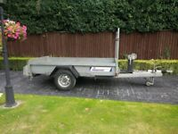 Indespension Trailer 8ft x 4ft bed 1.3 ton capacity. Like Ifor Williams