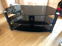 Very nice black TV stand in perfect condition