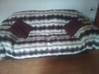 Faux fur throwovers for 3 and2 seater settees
