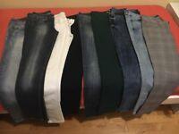 9 pairs of women jeans, size EUR38 (HNM, Berska, Forever21, Pull&Bear)