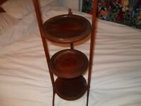 3 tear antique cake stand