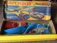 Vintage Matchbox Superfast SF-5 Double Track Race Set