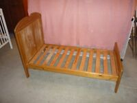 Pine Adaptable Cot / Child's Bed