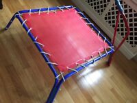 High quality kids trampoline (indoor trampoline) wight limit 35kg, height adjustable